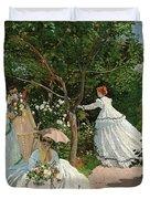 Women In The Garden Duvet Cover
