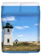 Wood End Lighthouse In Provincetown On Cape Cod Massachusetts Duvet Cover