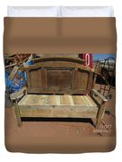 Wooden Bench Duvet Cover