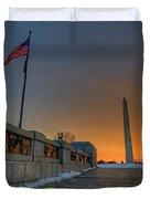 World War II Memorial Sunrise Duvet Cover