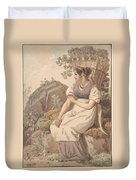 Young Woman Duvet Cover