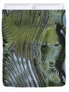 Alien Fluid Metal Duvet Cover