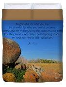 20- Be Grateful Duvet Cover