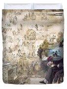 Charles Dickens 1812-1870.  To License For Professional Use Visit Granger.com Duvet Cover