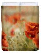 Summer Poppy Meadow Duvet Cover
