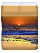 Sunrise Seascape And Rock Platform Duvet Cover