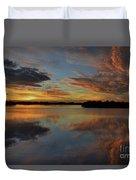 20- Sunset At Burnt Bridge Duvet Cover