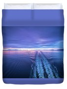Sunset Over Alaska Fjords On A Cruise Trip Near Ketchikan Duvet Cover