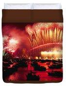 20 Tons Of Fireworks Explode Duvet Cover