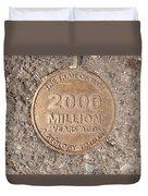 2000 Million Years Ago Duvet Cover