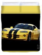 2001 Dodge Viper 'methenol Injected'  Duvet Cover
