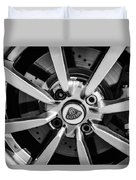 2005 Lotus Elise Wheel Emblem -0079bw Duvet Cover