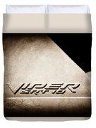 2006 Dodge Viper Srt 10 Emblem -0062s Duvet Cover