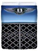 2007 Bentley Continental Gtc Convertible Hood Ornament Duvet Cover