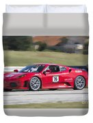 2007 Ferrari 430 At Sebring Raceway Duvet Cover