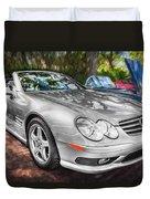 2008 Mercedes Benz Sl500 V8 Coupe Painted   Duvet Cover