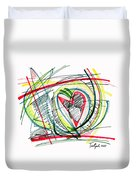2010 Abstract Drawing Eighteen Duvet Cover