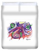 2010 Abstract Drawing Eleven Duvet Cover