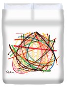 2010 Abstract Drawing Fifteen Duvet Cover