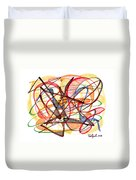 2010 Abstract Drawing Fourteen Duvet Cover
