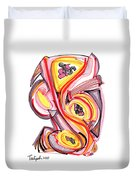 2010 Abstract Drawing Nine Duvet Cover