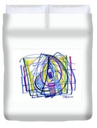2010 Abstract Drawing Nineteen Duvet Cover