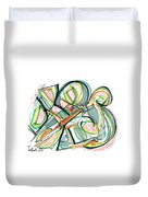 2010 Abstract Drawing Seventeen Duvet Cover