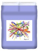 2010 Abstract Drawing Twelve Duvet Cover