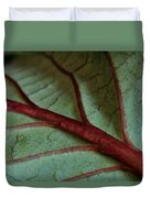 2010 Hydrangea Leaf Close Up 2 Duvet Cover