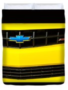 2010 Nickey Camaro Grille Emblem Duvet Cover