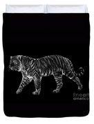 Tigers Gait Duvet Cover