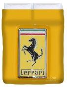 2012 Ferrari Hood Emblem Duvet Cover