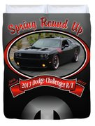 2013 Dodge Challenger Rt Wheeler Duvet Cover