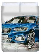 2014 B M W 2 Series Coupe With 3d Badge Duvet Cover