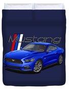 2015 Blue Mustang Duvet Cover