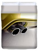 2015 Bmw M4 Exhaust Duvet Cover by Aaron Berg