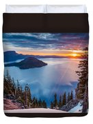 2015 Spring Sunrise From Discovery Point Duvet Cover