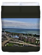2015 View Of The Skyway And Harbor Duvet Cover