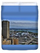 2015 View Of The Skyway And New Harbor  Duvet Cover