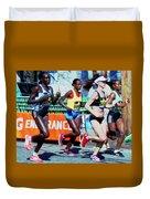 2016 Boston Marathon Winner 2 Duvet Cover