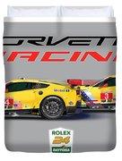 2016 Daytona 24 Hour Corvette Poster Duvet Cover
