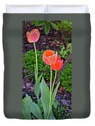 2016 Early May Tall Red Tulips Duvet Cover