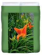 2016 July Garden Daylily Summer Afternoon Duvet Cover