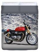 2016 Triumph Cafe Racer Motorcycle Duvet Cover