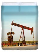 2016_10_pecos Tx_pump Jacks 2 Duvet Cover