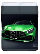 2017 Mercedes Amg Gt R Coupe Sports Car Duvet Cover
