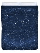 2017 Pi Day Star Chart Hammer/aitoff Projection Duvet Cover
