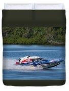 2017 Taree Race Boats 01 Duvet Cover