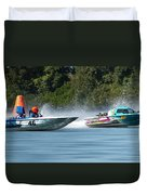 2017 Taree Race Boats 08 Duvet Cover