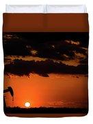 2017_08_midkiff Tx_ Sunset Pump Jack 3 Duvet Cover